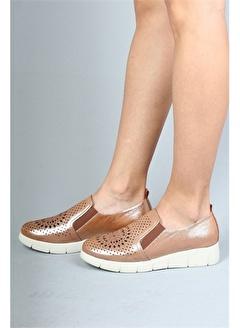 Modabuymus Modabuymus Hakiki Deri Yazlık Delikli Kadın Ayakkabı -Sunstar